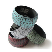 Beth North- Wooden 'Be' Bracelets