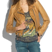 Lucky Brand Schott Hudson Jacket Womens - Brown