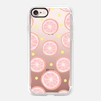 Pink Grapefruit and Dots iPhone 7 Case by Lisa Argyropoulos | Casetify