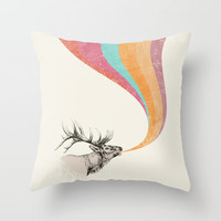 Elk Song Throw Pillow by Zeke Tucker | Society6