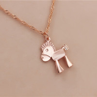 Rose Gold Color Horse Jewelry Set