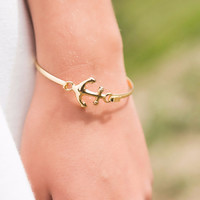 To The Sea Gold Anchor Bracelet