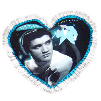 Elvis Presley 1950s Heart Pillow Cover
