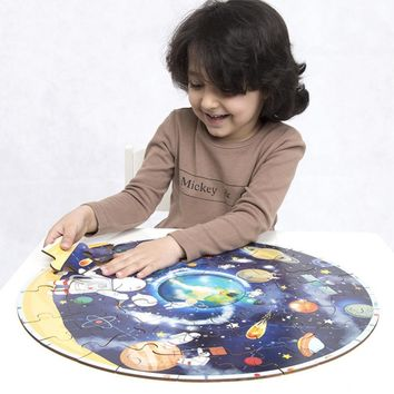 Large Puzzle World Map Planet Solar System Floor Toy