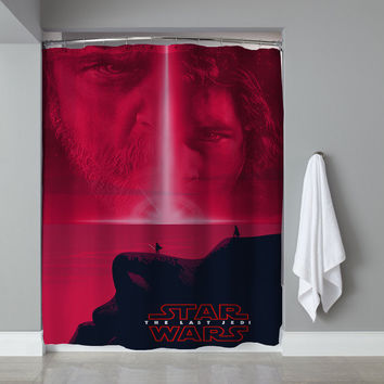 New Disney Star Wars Movie The Last Jedi Custom Shower Curtain Limited Edition