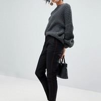 Selected Femme Cigarette Trouser With Front Pleats at asos.com