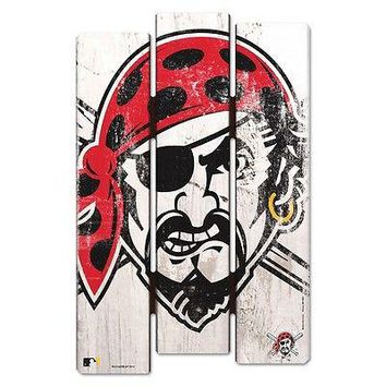 "PITTSBURGH PIRATES PIRATE FACE FENCE WOOD SIGN 11""X17'' BRAND NEW WINCRAFT"
