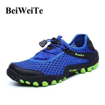 BeiWeiTe Men's Tourism Hiking Shoes Breathable Camping Cross Country Sneakers Fisherman Soft Outdoor Sport Beach Water Shoes NEW
