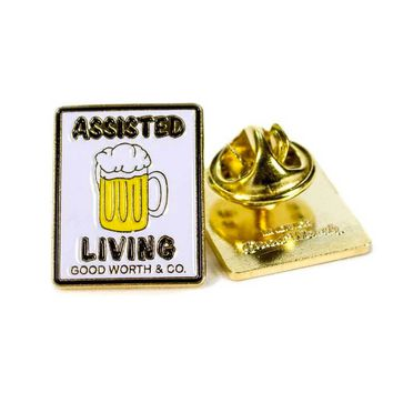 Assisted Living Beer Pin