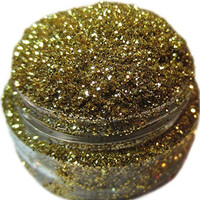 Lumikki Cosmetics Glitter For Eyeshadow / Eye Shadow / Eyes / Face / Lips / Nails Makeup - Compare to NYX - Shimmer Makeup Powder - Holographic Cosmetic Loose Glitter (Mermaid's Gold)
