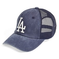 Men's American Needle 'Los Angeles Dodgers - Raglan Bones' Mesh Trucker Cap