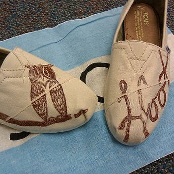 Owl Custom TOMS Shoes by themattbutler on Etsy