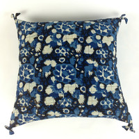 Apartment Decor, Ethnic Textile Pillow, Outdoor Pillow, Vintage Indigo Pillow, Cosy Pillow Cover, Bohemian Decor Idea, Country Rustic Pillow