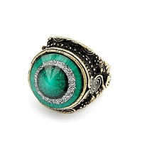 *Free Shipping*Green Stone Tapered Ring 11041426 from MaxNina