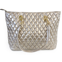 Shiny Diamond Quilted Tote