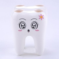 Cartoon Teeth Shape Toothbrush Holder Stand Brush Rack Tooth Brush Shelf Holder Toothbrush Accessories W5