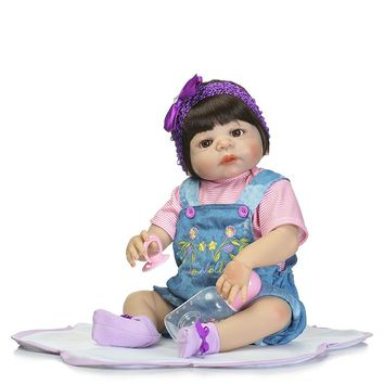 Silicone Baby - Reborn Full Body Doll - 55cm Baby Girl