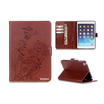 New Fashion Original For Apple iPad mini Case Pu Leather Cute Cover Case for New iPad mini 1/2/3  Embossing style
