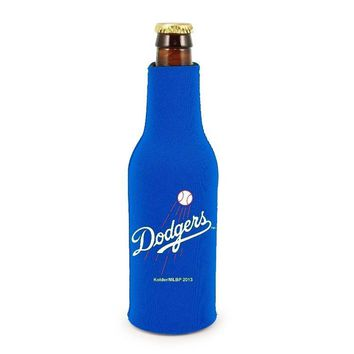 MLB Los Angeles LA Dodgers Zip Up Bottle Suit Insulator Holder Koozie Coozie