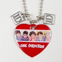 One Direction Heart Charm Photo Pendant Necklace – Claire's