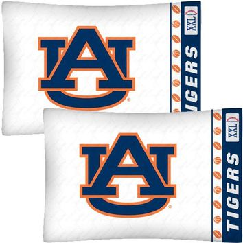 NCAA Auburn Tigers Football Set of Two Pillowcases
