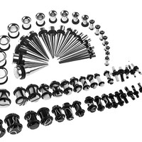 72 Pieces Ear Stretching Kit 14G-00G Marble, Plugs and Tapers 14G-00G Gauges Kit - 72 Pieces