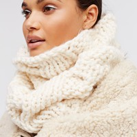 Free People Cozy Cable Knit Snood