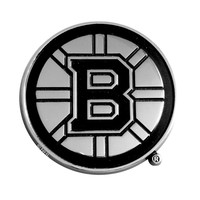 Boston Bruins NHL Chrome Car Emblem (2.3in x 3.7in)