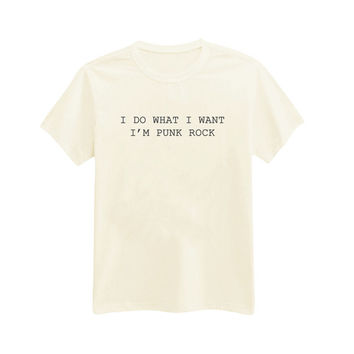 003 - I Do What I Want, I'm Punk Rock - 5SOS - 5 Seconds Of Summer - Printed T-Shirt - by HeartOnMyFingers
