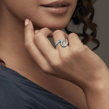 Sterling Opal Wave Ring