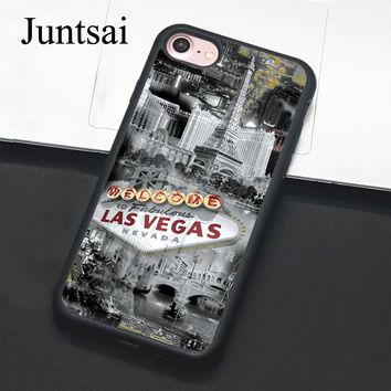 Juntsai Las Vegas Nevada Gamble For iPhone 6 6s Plus Case Phone Cover Soft TPU Back Cases For iPhone X 6S 7 8 Plus 5 5s SE Coque