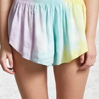 tie-dye Ombre Smock Shorts