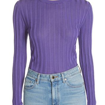 ACNE Studios Sitha Ribbed Top   Nordstrom