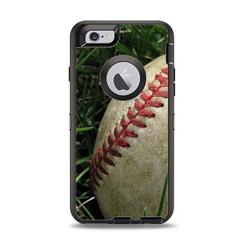 The Grunge Worn Baseball Apple iPhone 6 Otterbox Defender Case Skin Set