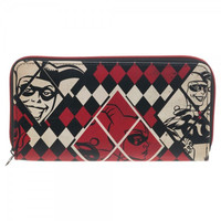 DC Comics Harley Quinn Large Zip Around Wallet