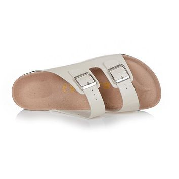 Birkenstock Arizona Sandals Top-layer-leather Ivory - Ready Stock