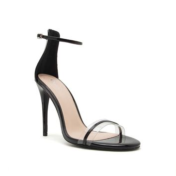 Diti-02AX Black One Band Ankle Strap Sandal