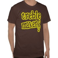 Treble Maker Musical Tee Shirt from Zazzle.com