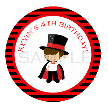 Magician, magic sticker Cupcake Topper, Tags,. Birthdays and Baby Shower. Magician printable. Digital file