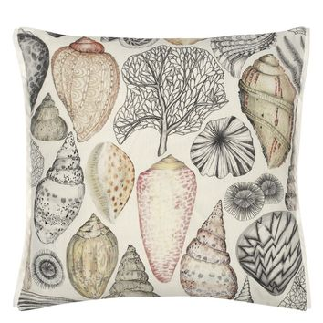 Designers Guild Shell Bay Outdoor Natural Decorative Pillow