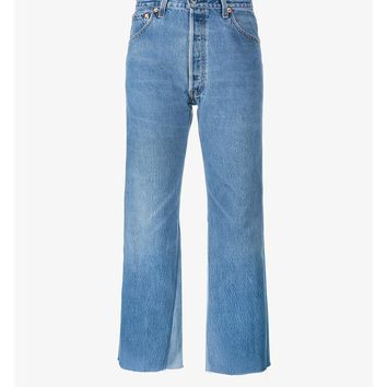 High Rise Jeans with Two Tone Detail - RE DONE