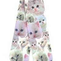 Photorealistic Persian Cat Socks