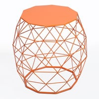 Home Garden Accents Wire Round Iron Metal Stool Side Table Plant Stand
