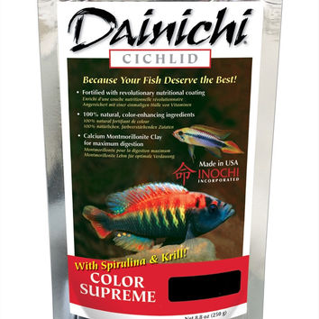 Dainichi Cichlid Fish Food Color Supreme Small Pellet 8.8 oz