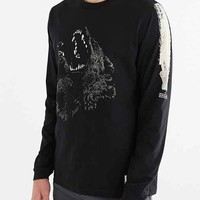 Supremebeing Brullen Wolf Long-Sleeve Tee- Black