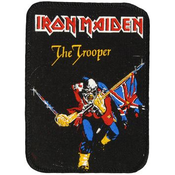 Iron Maiden Men's The Trooper Screen Printed Patch Black