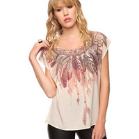 Feather & Chain Top | FOREVER 21 - 2005758048