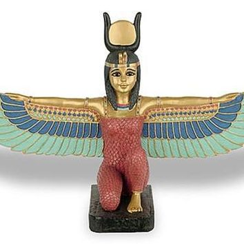 Isis Kneeling with Wings Outstretched Ancient Egyptian Statue 8W