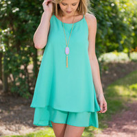Go For It Tank Dress, Mint