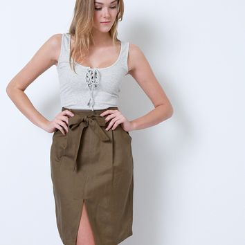 Sleek And Chic Skirt - Brown